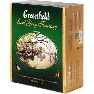 Чай черный Greenfield Earl Grey Fantasy в пакетиках 2 г 100 шт