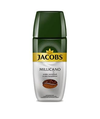 Кофе молотый в растворимом JACOBS MONARCH millicano, 95г