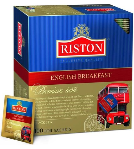 Чай черный Riston English Breakfast в пакетиках 2 г 100 шт