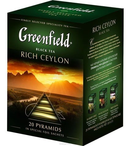 Чай черный Greenfield Rich Ceylon в пирамидках 2 г 20 шт