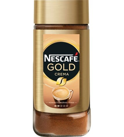 Кофе Nescafe Gold Crema растворимый 95 г